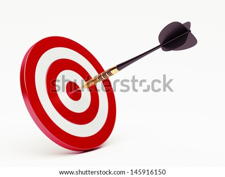Dart on red target