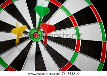 Dart stuck in a dartboard