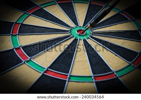 Dartboard Close Up