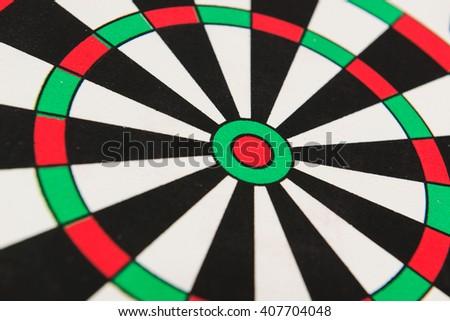 Dartboard Close - up - stock photo