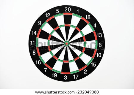 Dartboard isolated on white background. - stock photo