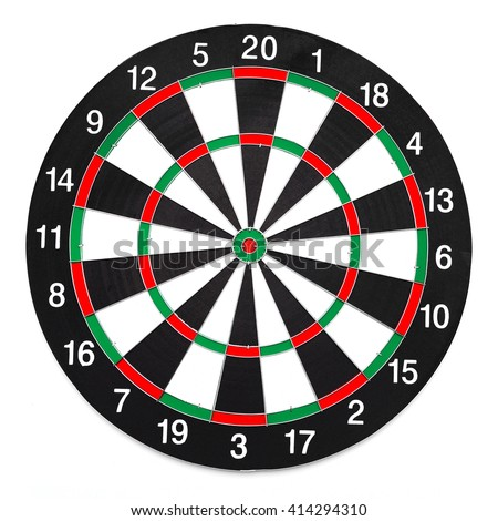 Dartboard isolated on white background