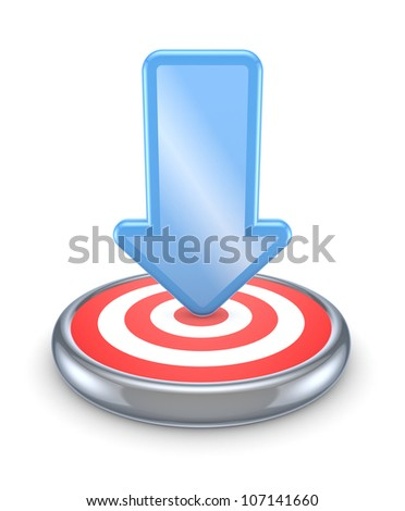 Dartboard. Isolated on white.3d rendered. - stock photo