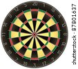 Dartboard vector illustration isolated on white background - raster version - stock vector