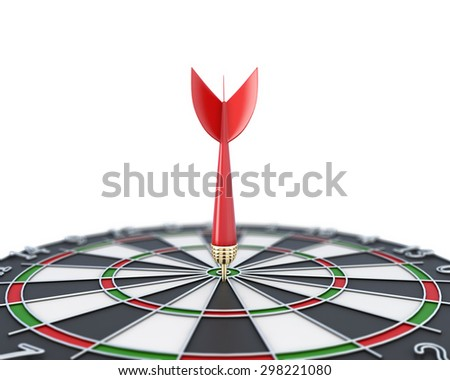 Darts close-up on a white. 3d render image. - stock photo