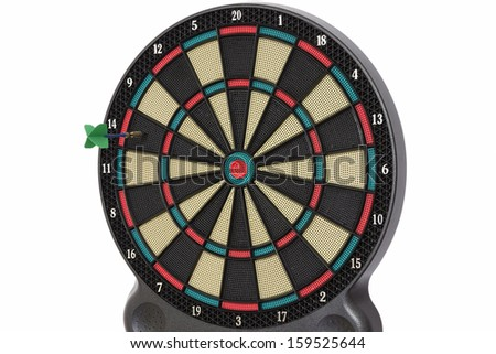 Darts game, number 14 - stock photo