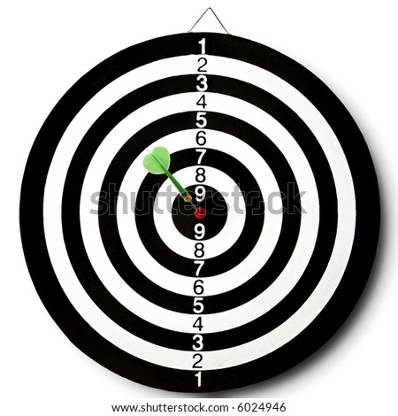 darts target with a dart stuck in the center
