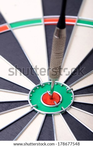 Dartz arrow in the red aim point