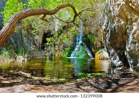 Darwin Falls, Death Valley National Park, California - stock photo