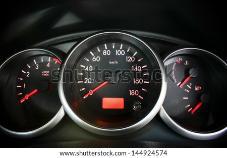 Dashboard Display or Speedometer in a vehicle