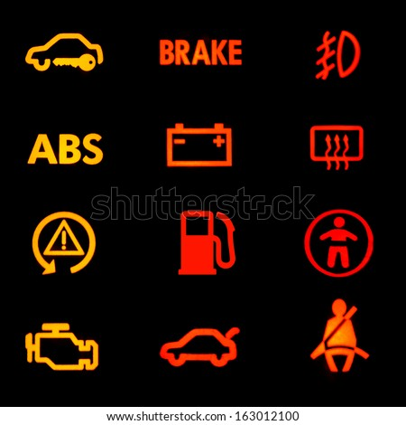 Dashboard icons - stock photo