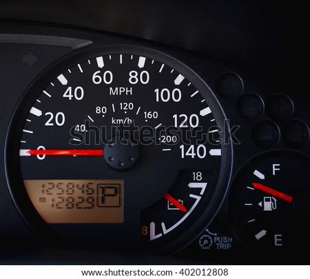 Car Dashboard Speedometer Odometer Tachometer Indicator Stock - Car signs on dashboardcar dashboard signs speedometer tachometer fuel and temperature