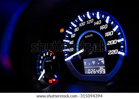 Dashboard. Speedometer