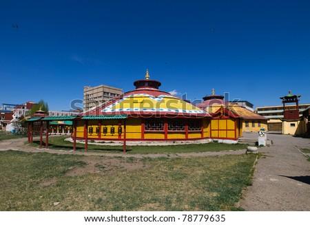Dashchoilon Khiid buddhist monastery in Ulaanbaatar, Mongolia - stock photo