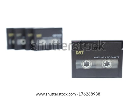 DAT ( Digital Audio Tape ) isolated