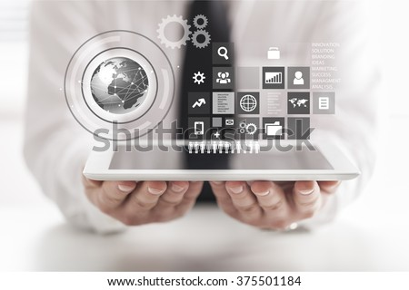 Data. - stock photo