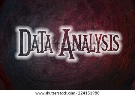 Data Analysis Concept text on background - stock photo