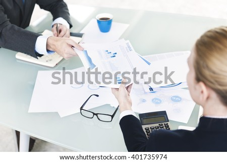 Data Analysis Strategy Planning Office Business Concept