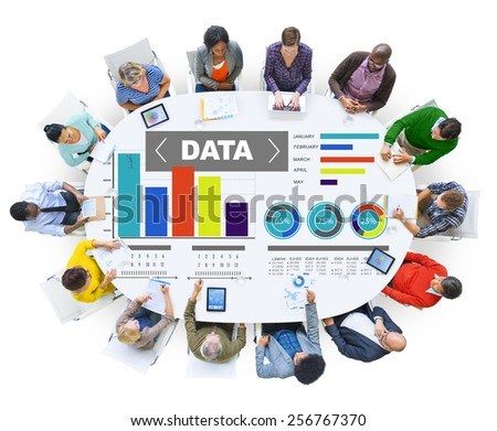 Data Analytics Chart Performance Pattern Statistics Information Concept - stock photo