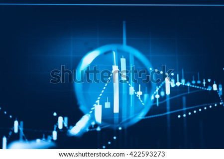 Data analyzing from charts and graph to find out the result in trading market. Working set for analyzing financial statistics and analyzing a market data. from charts and graph to find out the result