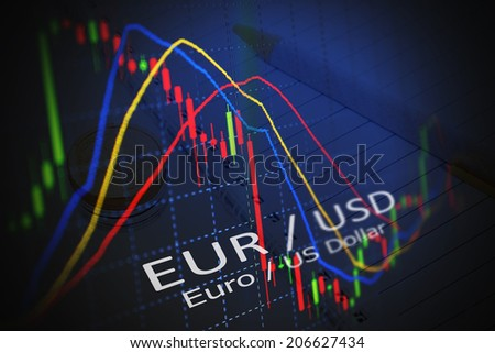 Data analyzing in foreign market: the charts and quotes on display. Analytics in pairs EUR / USD