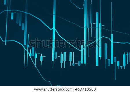 Data analyzing in forex market trading: Financial data on a monitor - Finance data concept.