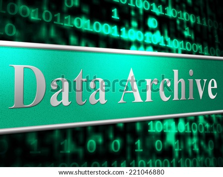 Data Archive Showing File Transfer And Computer