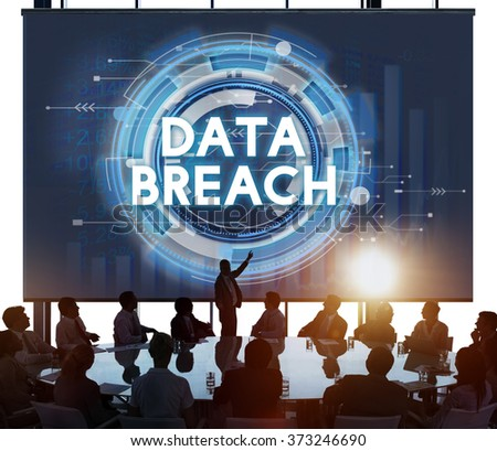 Data Breach Hacker Information Incursion Concept - stock photo