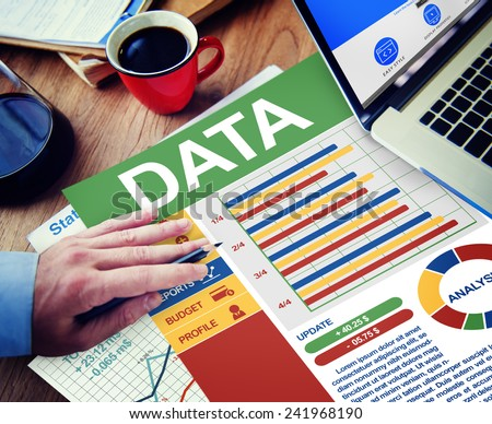 Data Businessman Working Calculating Thinking Planning Paperwork Concept - stock photo