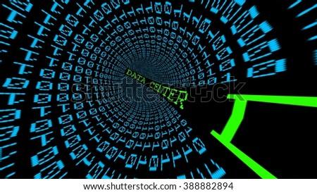 Data center tunnel - stock photo