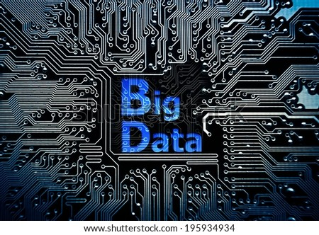Data concept: circuit board with word Big Data - stock photo