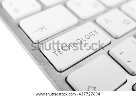 Data concept: computer keyboard with word Technology on button, close up