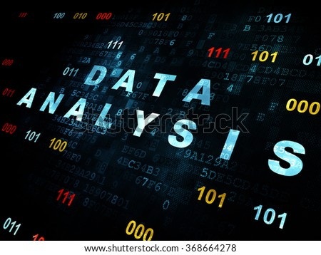 Data concept: Data Analysis on Digital background - stock photo
