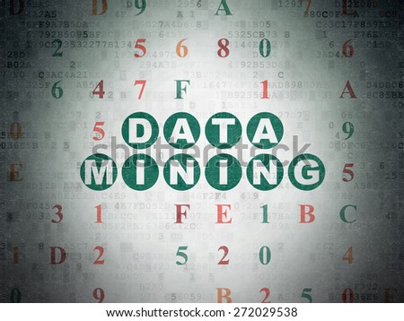 Data concept: Painted green text Data Mining on Digital Paper background with Hexadecimal Code, 3d render - stock photo