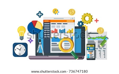 Business Growth Analytics Valuation Development Data Stock Vector ...