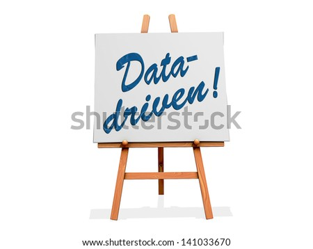 Data-driven on a sign. - stock photo