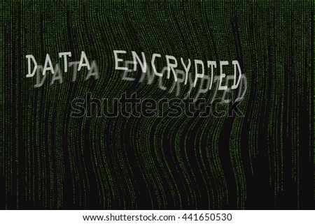data encrypted - stock photo
