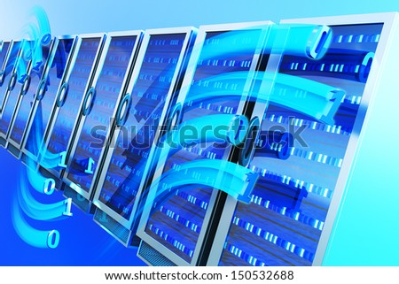 Data hosting concept - stock photo