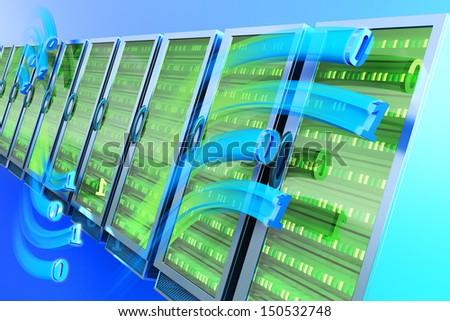 Data hosting concept - stock photo