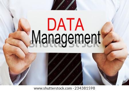 Data Management - stock photo