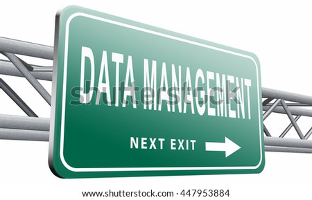 data management storage analysis and integration of big data, 3D illustration isolated on white.  - stock photo
