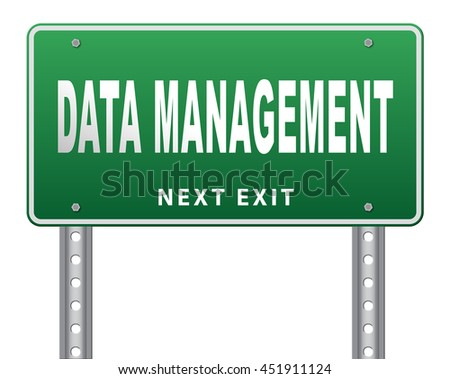 data management storage analysis and integration of big data 3D illustration, isolated, on white  - stock photo
