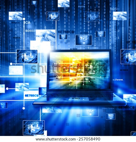 Data management technology - stock photo