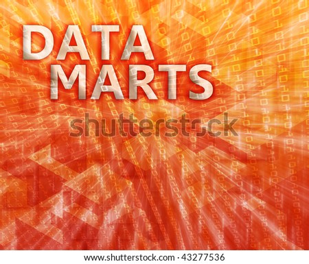 Data mart abstract, computer technology concept illustration - stock photo