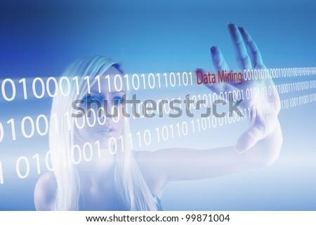 Data Mining - technology concept - stock photo