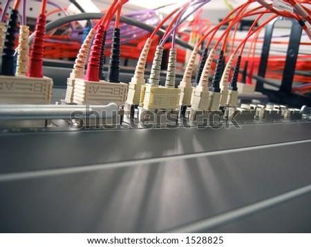 Data Network Hardware - stock photo
