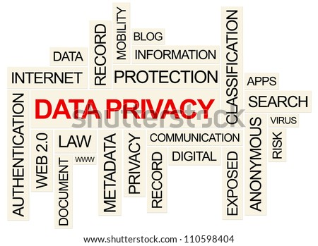 Data Privacy Concept . Created using PS. - stock photo