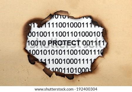 Data protect - stock photo