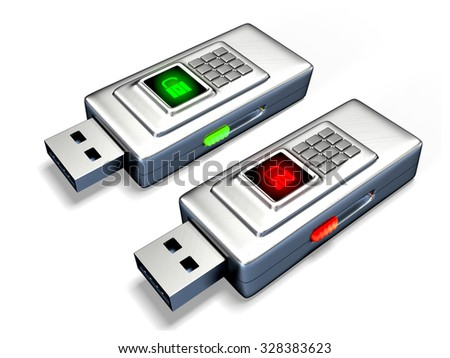 data protection on USB flash drives