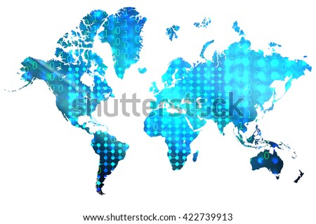 Data science world map stock illustration 422739913 shutterstock data science world map gumiabroncs Images